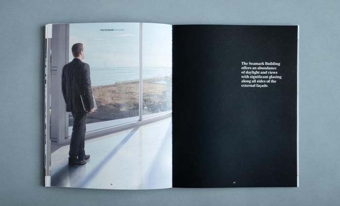 Brochure - man at window, abundance of light