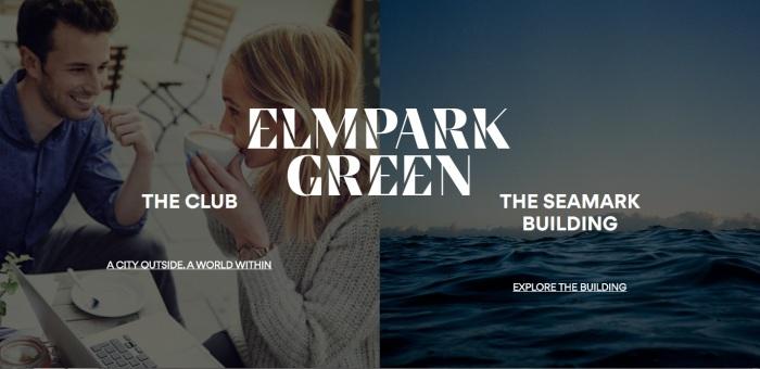 Web homepage Elm Park & Seamark page no frame